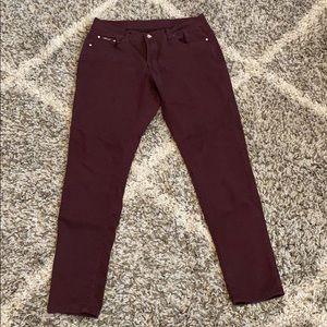 Dark purple skinny jeans/pants
